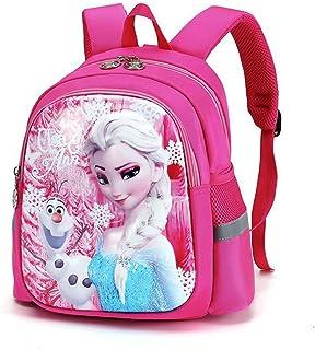 UNILIFE Mochila Infantil con Riendas para Niñas Mochila Frozen Elsa Princess Mochilas Escolares Animadas En 3D para Niñas Guardería Preescolar