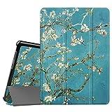 Fintie Hülle Hülle für Huawei Mediapad T3 10 - Ultra Dünn Superleicht Flip Schutzhülle mit Zwei Einstellbarem Standfunktion für Huawei MediaPad T3 (9,6 Zoll) 24,3 cm Tablet-PC, Mandelblüten
