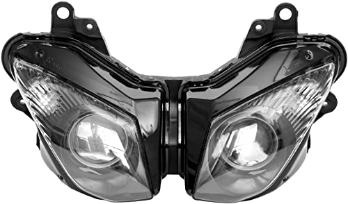 high quality Mallofusa Motorcycle Front Headlight Headlamp Assembly Compatible 2021 online for Kawasaki Ninja ZX6R 2009 2010 2011 2012 Clear Lens online