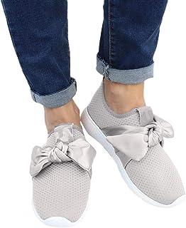 Zapato Deporte Mujer, Zapatillas De Malla Respirable Ligero En Suelas Cómodas Sneaker Con Lazo Para Correr En Asfalto Fitn...