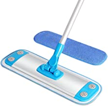 MR.SIGA Microfiber Mop,Aluminum Mop Frame and Aluminum Handle Size 40 x 12cm, 1 Free Microfiber Refill Included