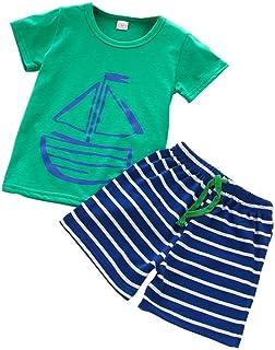 69327aa3252cb Oyedens Shorts Et Haut Ensemble Garcon Mode Infantile Enfant Vetement Bébé  Garçon Ete Pas Cher Outfit