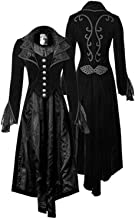 Women's Steampunk Gothic Vintage Jacket Victorian Tailcoat Long Trench Coat Jacket Halloween Costume