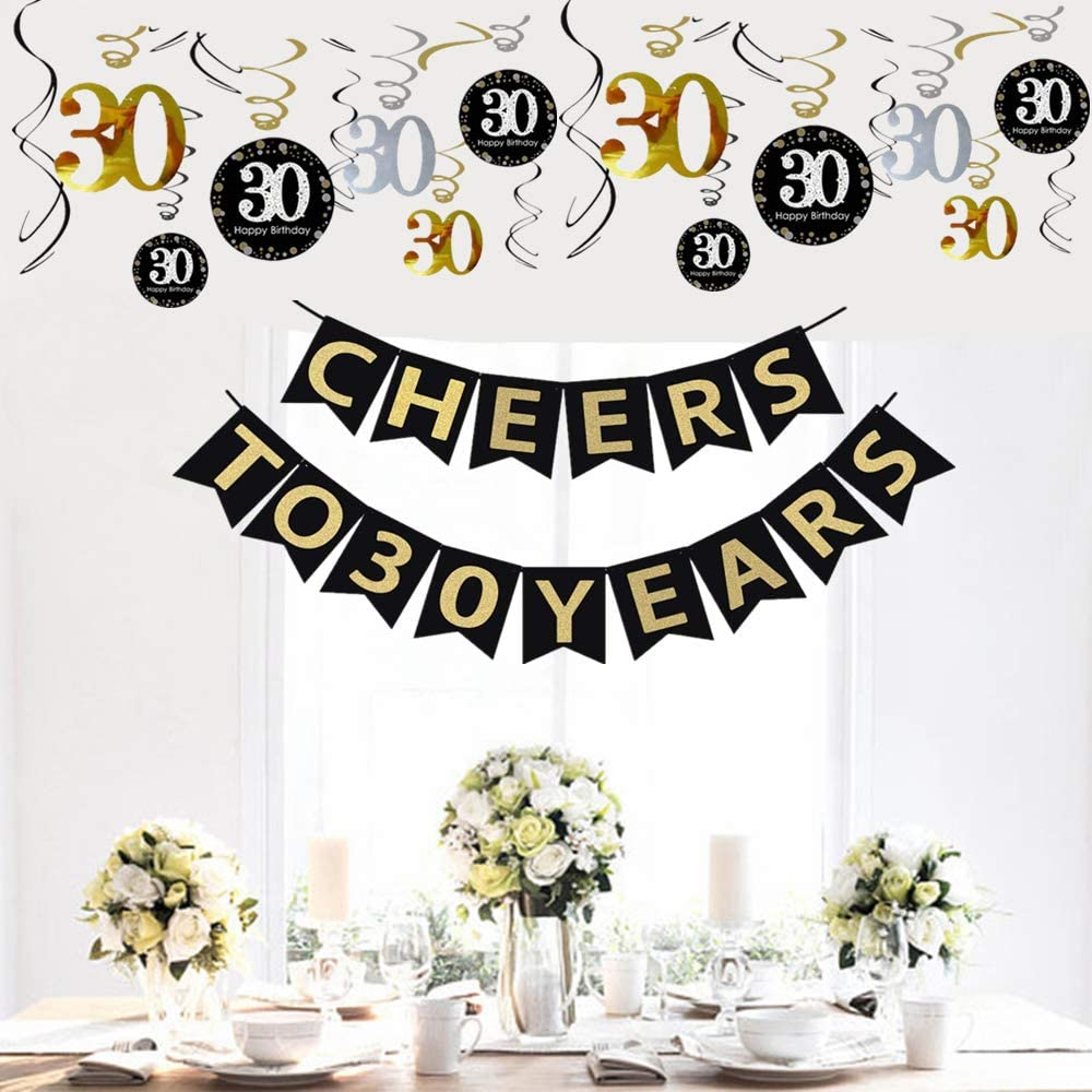 Buy JeVenis 20th Birthday Party Decorations Cheers to 20 Years ...