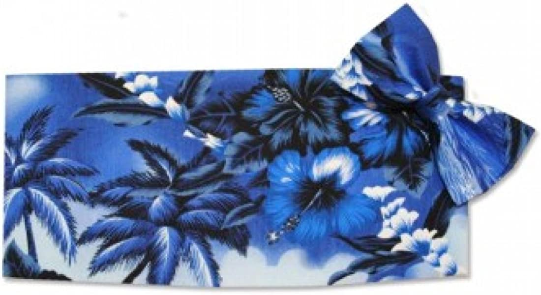 Blue Hawaiin Tuxedo Cummerbund and Bow Tie