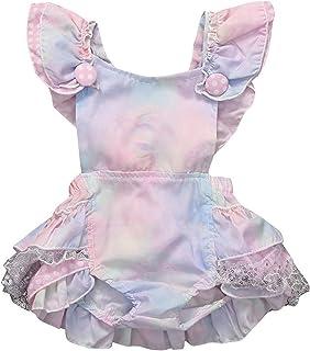 الصيف طفل الرضع طفل الفتيات الأزهار ارتداءها رومبير بذلة الملونة الحلوة (Color : MULTI, Kid Size : 18M)