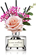 Cocod'or Rose Flower Reed Diffuser/Lovely Peony/6.7oz/Aromatherapy Oil and Sticks for Gifts and Home & Office Decor Essential Oils