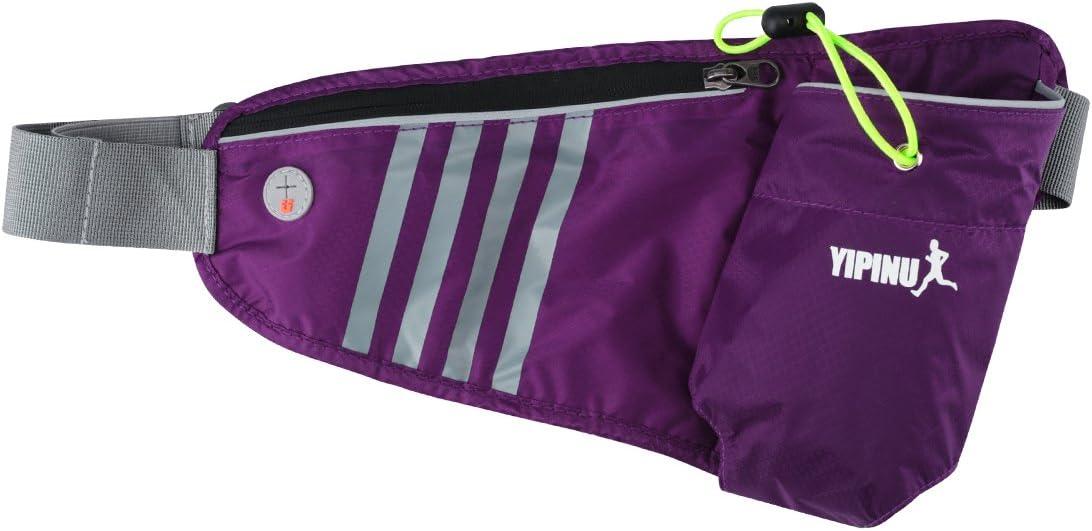 YEMEKE Travel Sport Waist Pack Waist Bag Fanny Pack Bag Hiking Bag with Water Bottle Holder Green