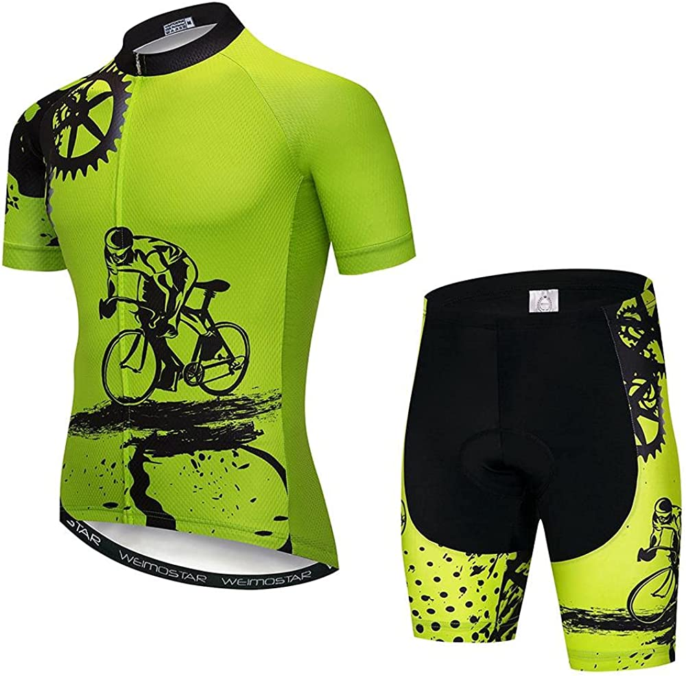 SUDUSUDO Men's Cycling Jersey Set Milwaukee Mall New life Sleeve Short Shirts Breat Bike