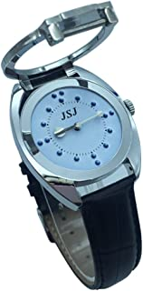Stainless Steel Tactile Watch for Blind People-Battery Operated