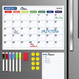 $21 » White Board Calendar for Wall, Set of 3 Dry Erase Calendar Whiteboard,Monthly,Weekly Organizer & Daily Notepad.Includes 4 ...