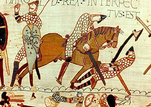 Teppich von Bayeux: Schlacht von Hastings–Der Tod von Harold Ii. Fine Art Print/Poster. Größe A3(42x 29,7cm)