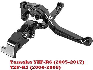 YZF-R1 2004-2008 2005-2017 corto Maneta palanca de embrague y de freno regualble para Yamaha YZF-R6