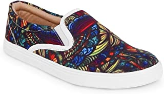 KANVAS Men Multicolor Printed Sneakers