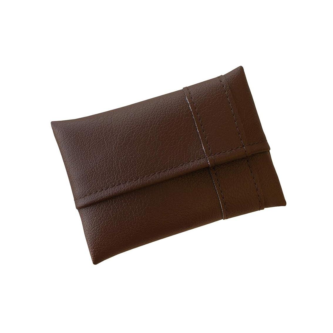 イチゴ肖像画岩TEES FACTORY ポケットティッシュケース 「POMY」 ポミー Mサイズ ブラウン 茶色