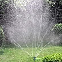 Kadaon Garden Sprinkler, 360 Degree Rotating Lawn Sprinkler with Up to 3,000 Sq. Ft Coverage - Adjustable, Weighted Gardening Watering System