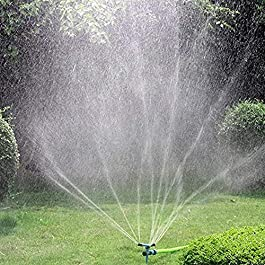 Kadaon Garden Sprinkler, 360 Degree Rotating Lawn Sprinkler with Up to 3,000 Sq. Ft Coverage – Adjustable, Weighted Gardening Watering System
