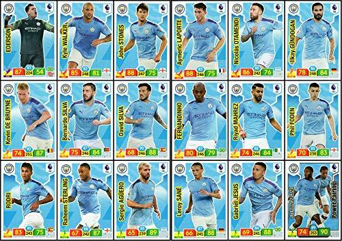 ADRENALYN XL Premier League 2019/20 Manchester City 18 Card Team Set Trading Cards