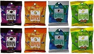 Barnana Organic Non-GMO Chewy Banana Bites 4 Flavor 8 Sampler Bundle, (2) each: Dark Chocolate, Peanut Butter, Coconut, Original (1.4 Ounces)