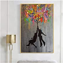 Genetic Los Angeles Zhangzidong Art Graffiti Posters and Prints Canvas Paintings Abstract Balloon Man Pictures for Living ...