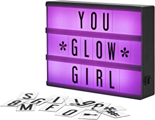 My Cinema Lightbox - The Mini Color-Changing LED Cinema Light Box 100 Letters & Numbers to Create Personalized Signs Class...