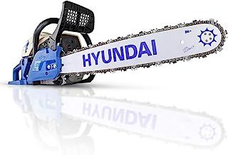 Hyundai 62cc Petrol Chainsaw, 3 Year Platinum Warranty, 20'' Cutting Bar, 2 Chains, Carry Bag, Chain File & Fuel Mixing Bo...