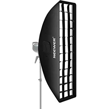 Neewer 8 x 36 inches//20 x 90 centimeters Honeycomb Grid Softbox with Bowens Mount Speedring for Speedlite Studio Flash Monolight,Portrait and Product Photography