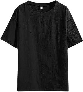 TWIFER Tシャツ メンズ Tシャツメンズコットンリネン半袖シャツ夏のヒップホップTシャツルーズファッションストリートベーシックTシャツレジャーシャツシャツ通気性の良い快適な服
