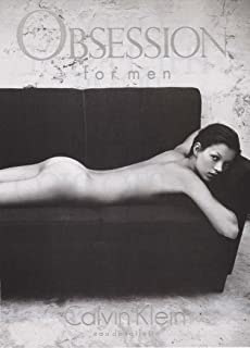 KATE MOSS NUDE Calvin Klein Obsession ADVERTISEMENT 1993 Original Magazine Ad Page