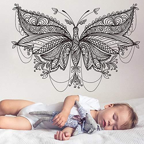 Niños divertidos Mandala Mariposa Mariposa Animal Mascota | Regalo creativo de la etiqueta engomada DIY Wall Decal Decoración de la pared Decoración de la pared