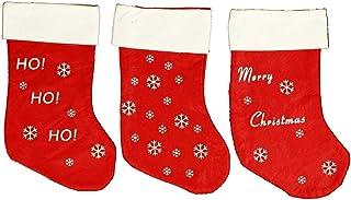 HAAC Bota-calcetín Botas calcetín de Navidad con motivos navideños Fieltro 37cm Navidad