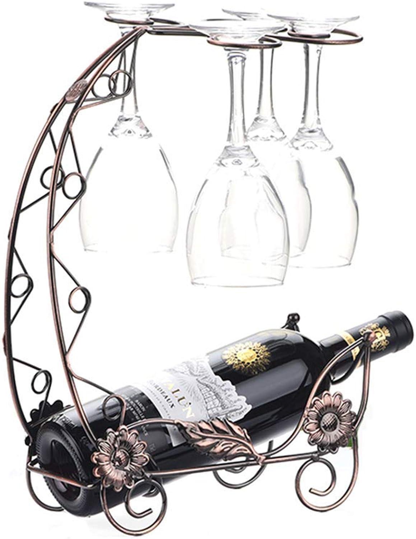 Creative Wine Rack Decoration Fashion Wrought Iron Goblet Rack Wine Cabinet Display Stand European Wine Glass Shelf Wine Rack (color   B)