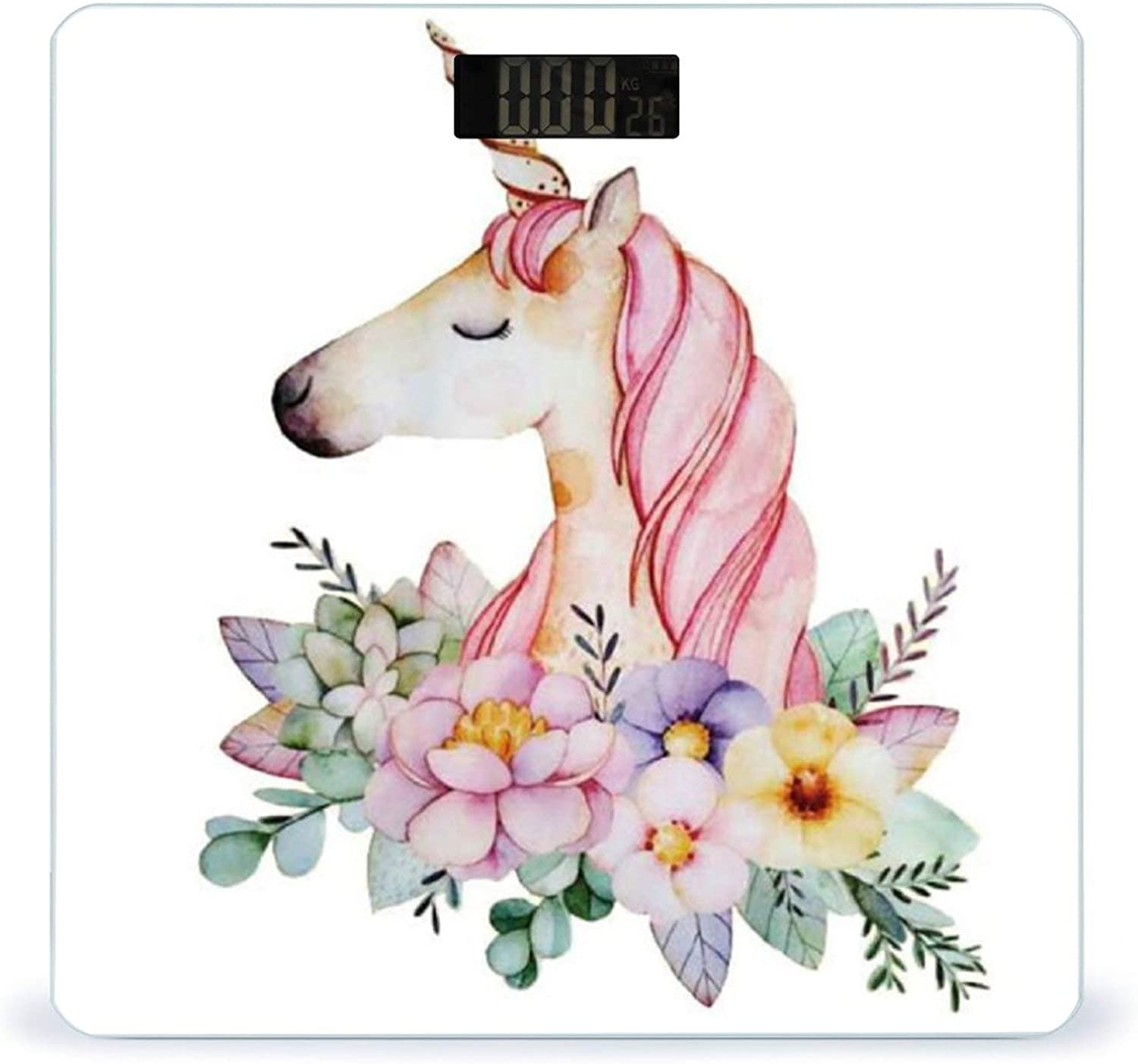 CHUFZSD Tulsa Mall Cute Flower and Unicorn Highly Luxury Accurate Fitness Smart Sc