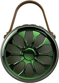 GLJJQMY Wireless Bluetooth Speaker Portable Outdoor Three-Proof Portable HiFi Lotus Hollow Card Small Stereo Illuminated (Color : Green)
