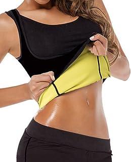 GainKee Neoprene Sweat Waist Trainer Vest for Weight Loss Women Slimming Shirt Body Shaper with Sauna Suit Effect