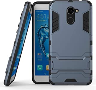 For Huawei Y7 Prime/Enjoy 7 Plus - Armor Plastic TPU Hybrid Mobile Cover with Kickstand - Dark Blue