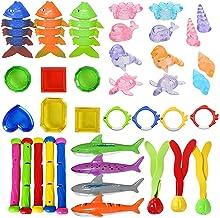 Yoohh 37 STKS Zwembad Duiken Speelgoed Set Onderwater Duiken Speelgoed Set Grote Geschenken voor Kinderen Zinken Zwembad S...