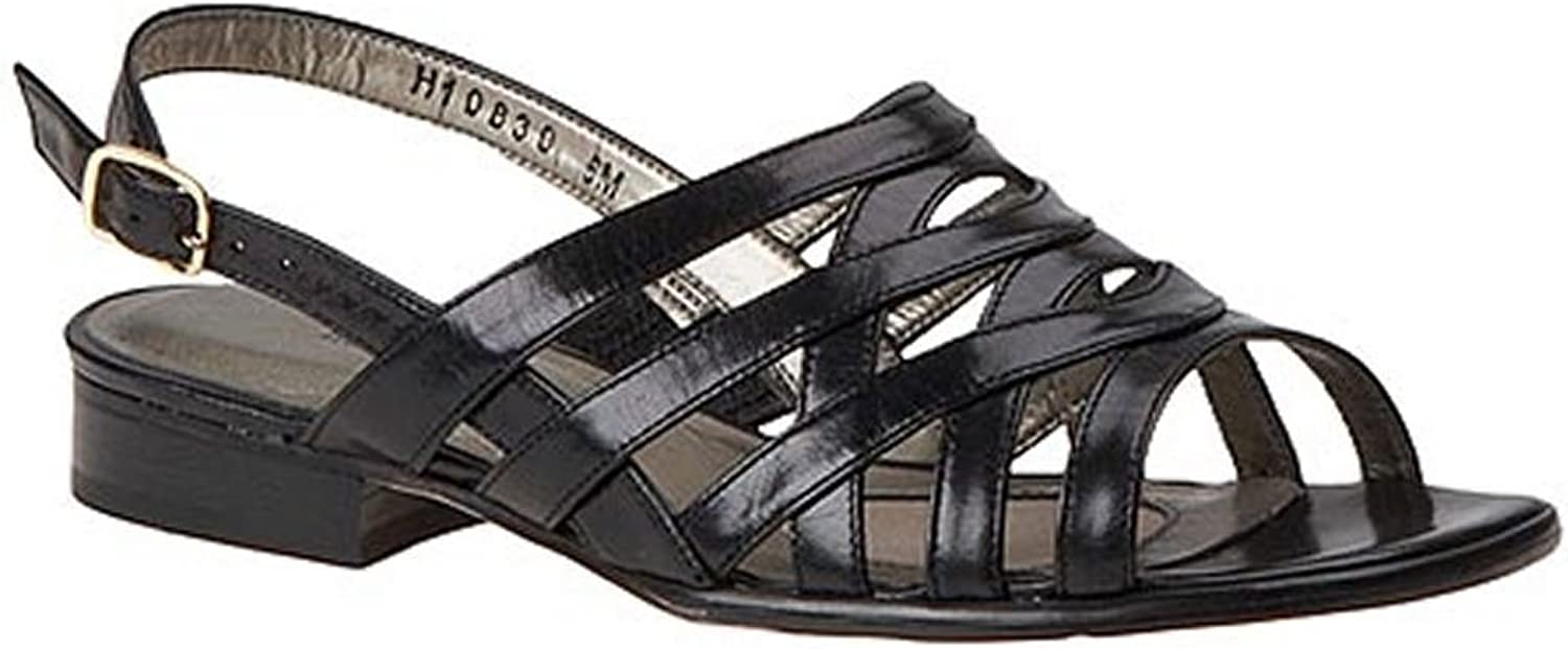 Mark Lemp Classics Womens Calypso Leather Open Toe Casual Strappy Sandals