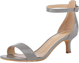 Women's Stiletto Open Toe Strappy Heeled Sandal Ankle Strap High Heels Sandals Dress Working Bridal Party Wedding Shoes