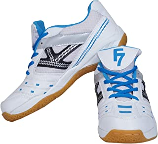 Fashion7 Men's Synthetic Leather Badminton Shoes - Lightweight with Good Cushioning Traction & Grip