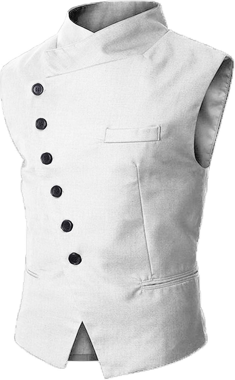 Mens Paisley Floral Suit Vest Formal Dress Vest For Men Wedding Stand Collar Tuxedo Waistcoat For Men JMJ020