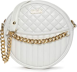 KLEIO Quilted Round Sling Bag For Women Girls