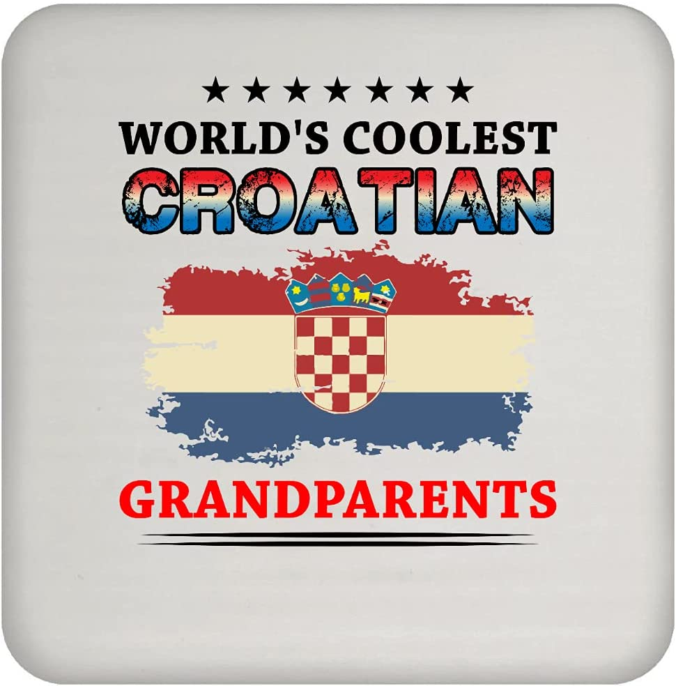 Limited price Worlds Coolest Croatian Coaster Grandparents Max 66% OFF