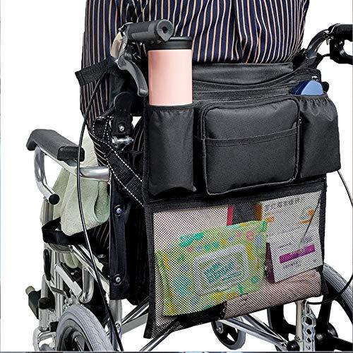 Multifunktions-Rollstuhl-Rucksack mit 6 Taschen, universeller Oxford-Stoff, wasserdichte Aufbewahrungstasche für Kinderwagen Outdoor