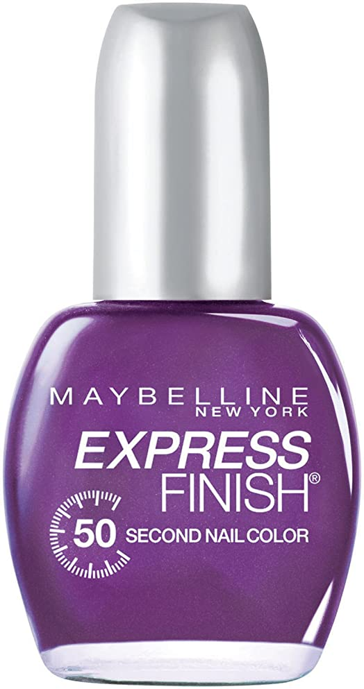 カメラ請求可能カテナMAYBELLINE EXPRESS FINISH 50 SECOND NAIL COLOR #895 GRAPE TIMES