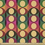 ABAKUHAUS Retro Stoff als Meterware, Pop Art geometrische