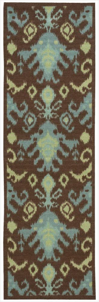Nourison Vista National It is very popular products Chocolate Runner Area 2-Feet by 8-F Rug 6-Inches