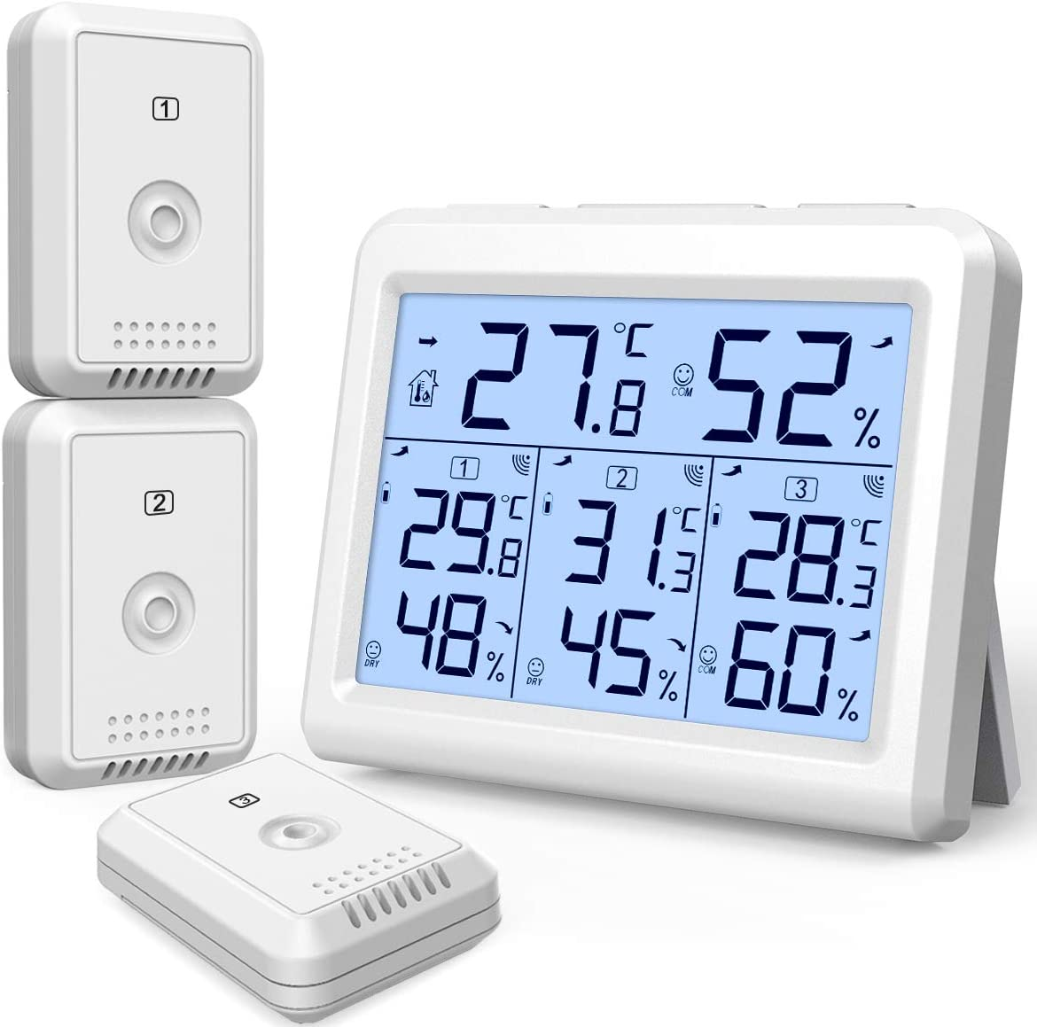 Ranking TOP12 New AMIR Indoor Cash special price Outdoor Monit Temperature Thermometer Humidity