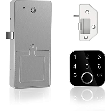 Office Cabinet Smart Cabinet Lock USB Rechargeable Drawer Intelligent Electronic Lock for File Cabinet Fingerprint Cupboard Lock Drawer Lock