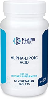 Klaire Labs Alpha-Lipoic Acid 100 mg - Hypoallergenic ALA Supplements - Antioxidant, Cardiovascular, Neurological & Liver ...